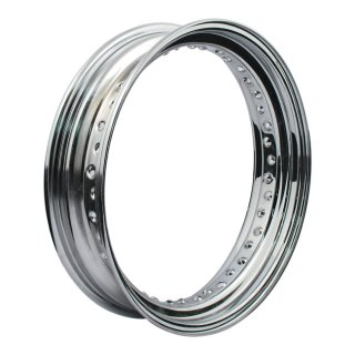 HARLEY 40 SPOKE CHROME WHEEL RIM 4.5 X 16
