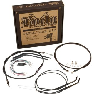 HARLEY DYNA BURLY APEHANGER CABLE/LINE KIT 14 INCH