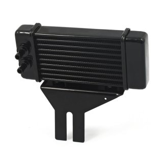 HORIZONTAL OIL COOLER, 10-ROW BLACK HARLEY DYNA 91-17